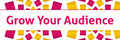 Grow Your Audience Pink Golden Squares