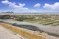 Growing oysters and picking at low tide at the port of cancale france Royalty Free Stock Photos