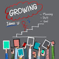 Growing process planning improvement development concept Royalty Free Stock Photography