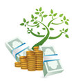 Growing profits concept illustration Royalty Free Stock Photo