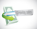 Growing sales sign illustration design over a white background Stock Photography