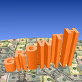 Growth with American dollars Stock Photos