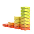 Growth bar graph isolated Royalty Free Stock Photo