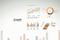 Growth charts and graphs for business Royalty Free Stock Photo