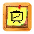 Growth Concept - Yellow Sticker on Message Board. Royalty Free Stock Photo