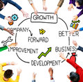 Growth development improvement success increase concept Royalty Free Stock Photos