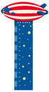 Growth measuring chart with balloon flying