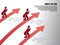 Growth of progressive business design template running businessman on vector illustration Royalty Free Stock Photo