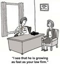 Growth spurt i see that he is growing as fast as your law firm Royalty Free Stock Photos