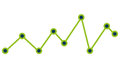 Growth statistics with graphics isolated flat icon.