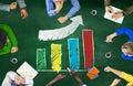 Growth success improvement development bar graph accomplishment concept Stock Photo