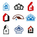 stock image of  Growth trend of real estate industry - simple house icons. Abstr