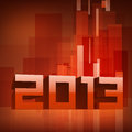 Grußkarte des glücklichen neuen Jahres 2013. Stockfotos