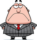 Grumpy Boss Stock Photo