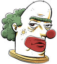 Grumpy Clown Stock Images