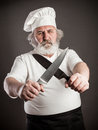 Grumpy old chef Royalty Free Stock Photo