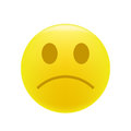 Grumpy or sad emoticon