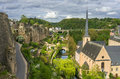 Grund beautiful view of from the corniche luxembourg city Stock Photo