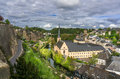 Grund beautiful view of from the corniche luxembourg city Stock Image