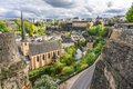 Grund luxembourg city beautiful view of from the corniche Stock Images