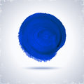 Grunde paint circle blue for design abstract background Stock Photos