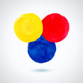 Grunde paint circles yellow red blue for design abstract background Royalty Free Stock Photos