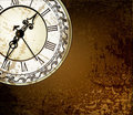 Grunge abstract background with antique clocks Stock Image