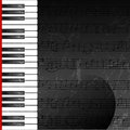 Grunge abstract background with piano keys Stock Photography