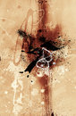 Grunge abstract textured mixed media collage