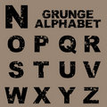 Grunge alphabet set [N-Z] Royalty Free Stock Photography