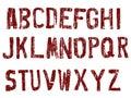 Grunge Alphabet A-Z Stock Photography