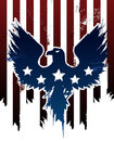 Grunge american eagle background with stars Royalty Free Stock Photo