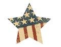 Grunge American flag star. Vector illustration