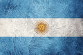 Grunge Argentina flag. Argentina flag with grunge texture. Royalty Free Stock Photo