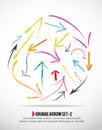 Grunge arrow icon set Royalty Free Stock Photo