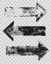Grunge arrow stamps set Royalty Free Stock Photo