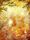 Grunge autumnal background colorful autumn of red and yellow color Royalty Free Stock Photos