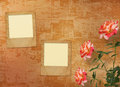 Grunge background with beautiful rose Royalty Free Stock Photography