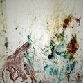 Grunge Background with Blue and Red Stains Stock Photography