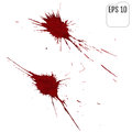 Grunge background with bright red splash. Vector illustration Royalty Free Stock Photo