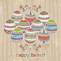 Grunge background easter eggs vector illustration Stock Photography
