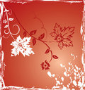 Grunge background flower, elements for design, vector Royalty Free Stock Photo