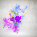 Grunge background image with color fumes and splashes Royalty Free Stock Photos