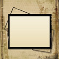 Grunge background with old filmstrip and frame vintage shabby the space for text or photo Royalty Free Stock Photo