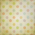 Grunge background with pastel dots illustration Stock Image