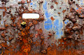Grunge background of rusting painted iron. Royalty Free Stock Photo