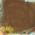 Grunge background worn look chocolate brown and angel bohemian art deco paper dpi x with vintage images aqua blue Stock Image