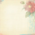 Grunge background worn look ivory light flowers bohemian art deco paper dpi x with and texture Royalty Free Stock Photography