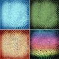 Grunge backgrounds with circles set of background illustration Royalty Free Stock Images