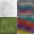 Grunge backgrounds with circles set of background illustration Royalty Free Stock Photos